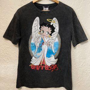 Zara Betty Boop Angel Devil Double-sided T-Shirt